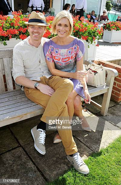 James Midgley and Jenni Falconer attend the Audi International Polo at Guards Polo Club on July 28 2013 in Egham England