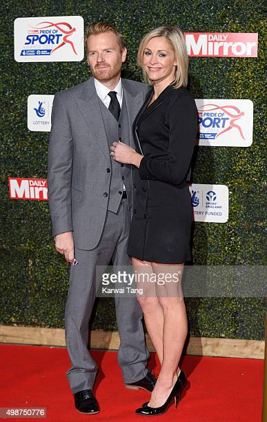 James Midgley and Jenni Falconer attend the Daily Mirror Pride Of Sport Awards at Grosvenor House on November 25 2015 in London United Kingdom