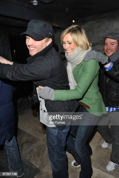 ACCESS** James Midgley and Jenni Falconer attend the launch of SAW Alive the world's most extreme live horror maze at Thorpe Park on March 9 2010 in...