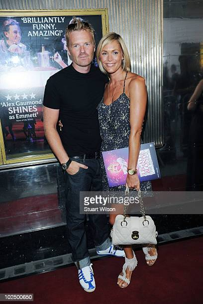 James Midgley and Jenni Falconer attend the press night for Richard Fleeshman's first performance in Legally Blonde The Musical at The Savoy Theatre...