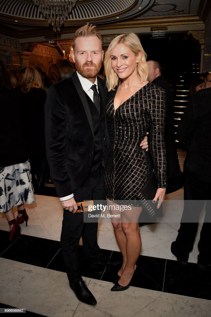 James Midgley and Jenni Falconer attend the press night performance of 'Hamilton' at The Victoria Palace Theatre on December 21, 2017 in London, England.