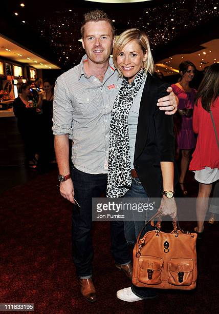 James Midgley and Jenni Falconer attend the Red Riding Hood gala screening at Empire Leicester Square on April 7 2011 in London England