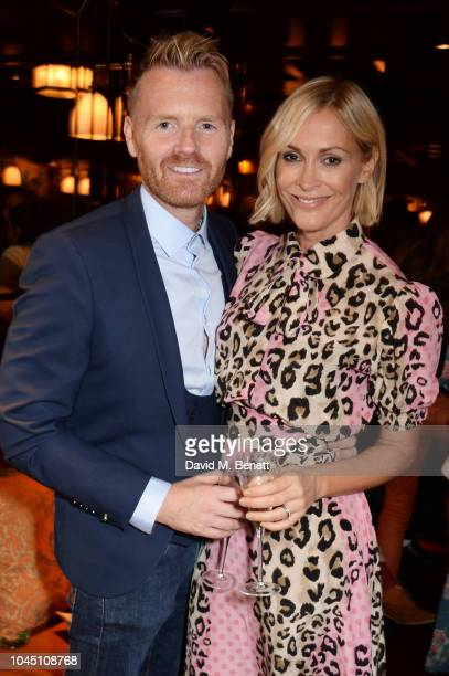 James Midgley and Jenni Falconer attend the VIP launch of Harry's Bar James Street on October 3 2018 in London England