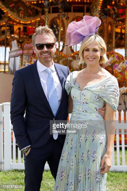 James Midgley and Jenni Falconer in the Village Enclosure on day 4 of Royal Ascot at Ascot Racecourse on June 21 2019 in Ascot England