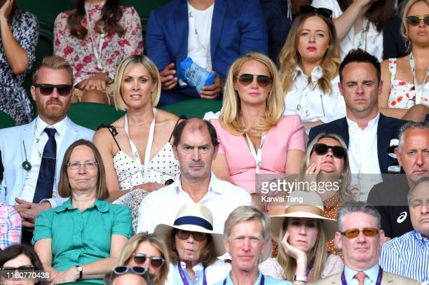 James Midgley Jenni Falconer AnneMarie Corbett and Ant Mcpartlin attend day seven of the Wimbledon Tennis Championships at All England Lawn Tennis...
