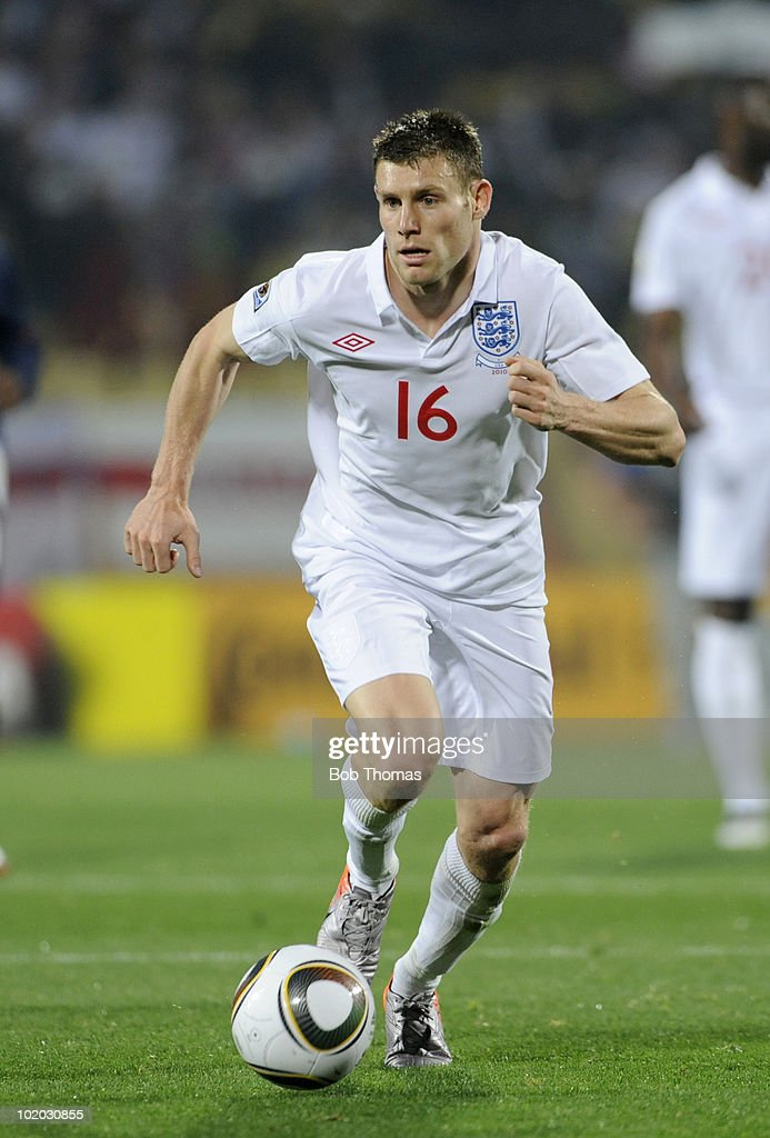 James Milner of England during the 2010 FIFA World Cup South Africa Group C match between England and USA at the Royal Bafokeng Stadium on June 12, 2010 in Rustenburg, South Africa. The match was drawn 1-1.