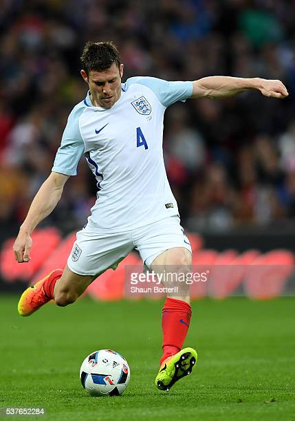 James Milner of England in action during the international friendly match between England and Portugal at Wembley Stadium on June 2 2016 in London...