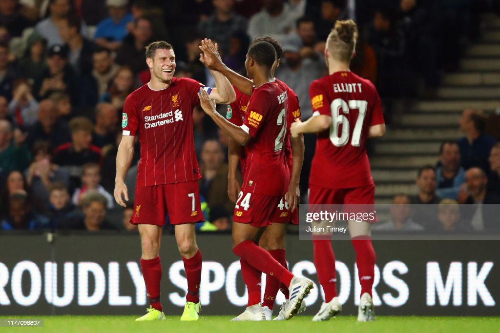 Milton Keynes Dons v Liverpool FC - Carabao Cup Third Round : News Photo