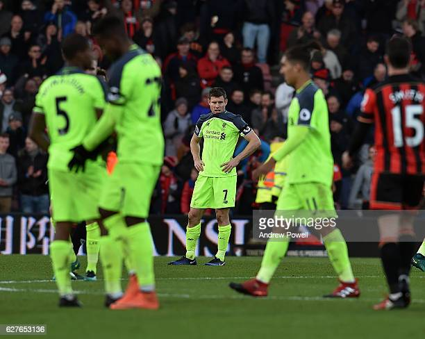 James Milner of Liverpool dejected during the Premier League match between AFC Bournemouth and Liverpool at the Vitality Stadium on December 4 2016...