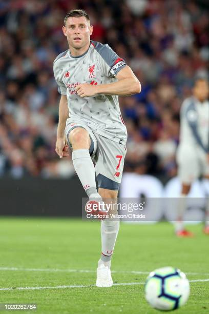 James Milner of Liverpool during the Premier League match between Crystal Palace and Liverpool FC at Selhurst Park on August 20 2018 in London United...