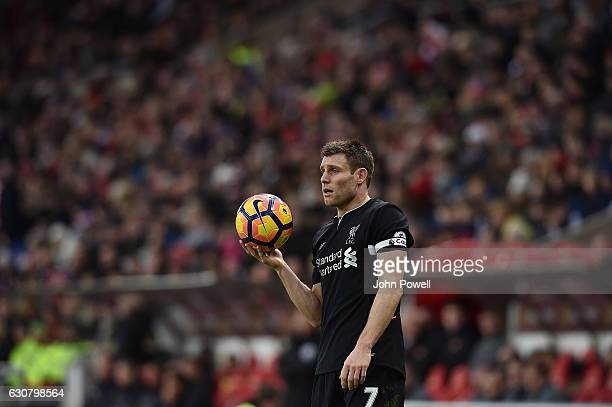 James Milner of Liverpool during the Premier League match between Sunderland and Liverpool at Stadium of Light on January 2, 2017 in Sunderland,...