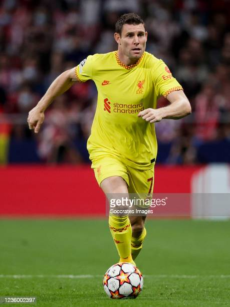 James Milner of Liverpool FC during the UEFA Champions League match between Atletico Madrid v Liverpool at the Estadio Wanda Metropolitano on October...