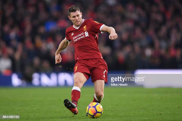 James Milner of Liverpool in action during the Premier League match between Brighton and Hove Albion and Liverpool at Amex Stadium on December 2 2017...