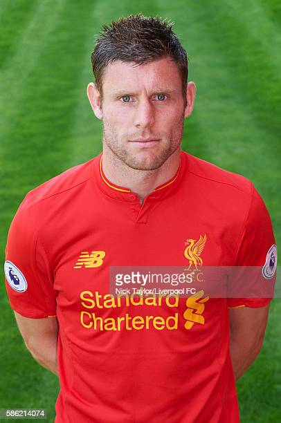 James Milner of Liverpool poses for a portrait at Melwood Training Ground on August 5 2016 in Liverpool England