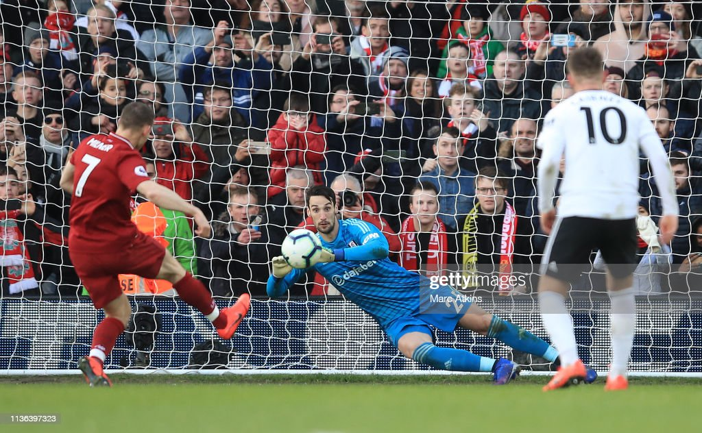 Fulham FC v Liverpool FC - Premier League : News Photo