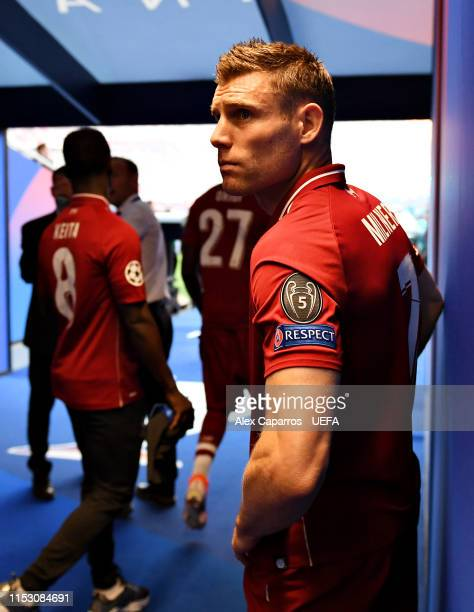 James Milner of Liverpool waits in the tunnel prior to the UEFA Champions League Final between Tottenham Hotspur and Liverpool at Estadio Wanda...