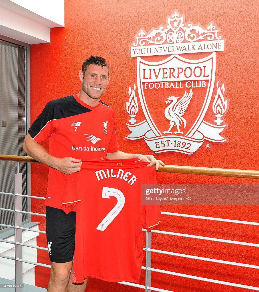 Liverpool Unveil New Signing James Milner : News Photo