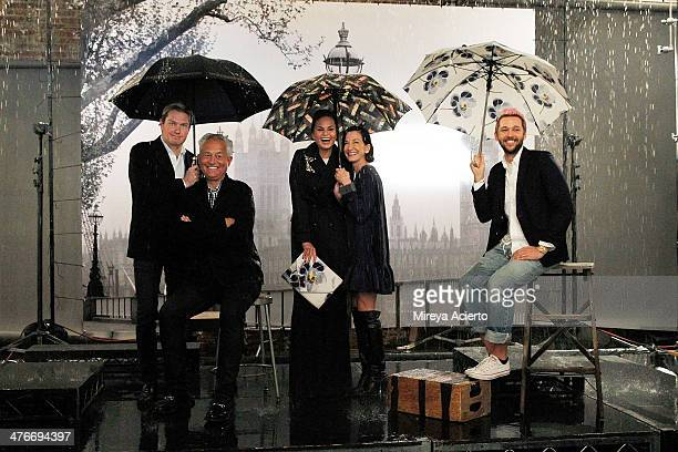James Mischka Mark Badgley Chrissy Teigen Cynthia Rowley and Chris Benz behind the scenes at the London Fog Reimagine The Rain Designer Collection...