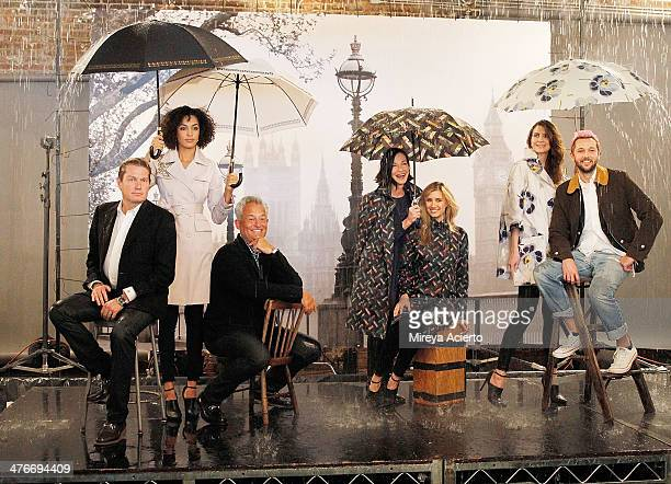 James Mishka Mark Badgley Cynthia Rowley models and Chris Benz behind the scenes at the London Fog Reimagine The Rain Designer Collection Event at...