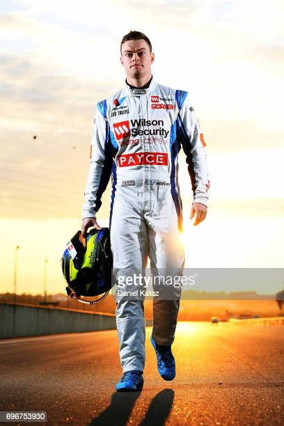 James Moffat driver of the Wilson Security Racing GRM Holden Commodore VF poses for a portrait prior to practice 3 for the Darwin Triple Crown which...