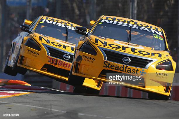 James Moffat drives the Norton Racing Nissan and Michael Caruso drives the Norton 360 Racing Nissan during race1 for the Gold Coast 600 which is...