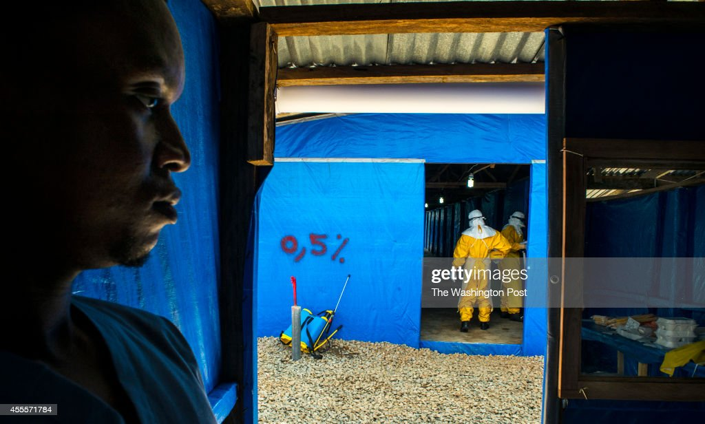 The West African country of Liberia is crippled by a recent outbreak of the Ebola virus. : News Photo