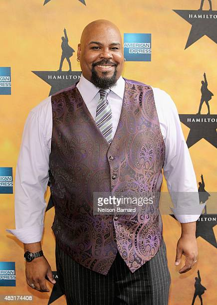 James Monroe Iglehart attends Hamilton Broadway Opening Night at Richard Rodgers Theatre on August 6 2015 in New York City
