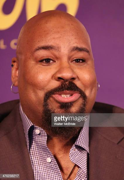 James Monroe Iglehart attends the 'Aladdin' Broadway Cast And Creative Team Press Preview at Mandarin Oriental Hotel on February 18 2014 in New York...