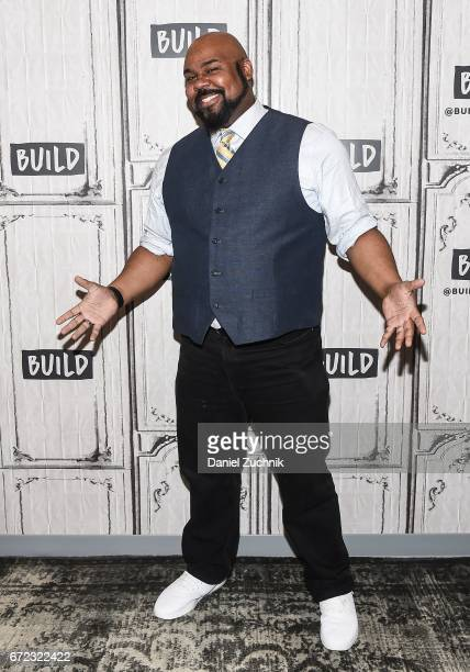 James Monroe Iglehart attends the Build Series to discuss his broadway show 'Hamilton' at Build Studio on April 24 2017 in New York City