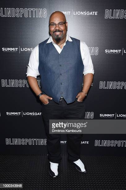 James Monroe Iglehart attends the screening of Blindspotting hosted by Lionsgate at Angelika Film Center on July 16 2018 in New York City