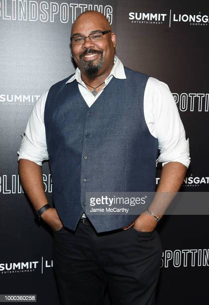 """James Monroe Iglehart attends the screening of """"Blindspotting"""" hosted by Lionsgate at Angelika Film Center on July 16, 2018 in New York City."""