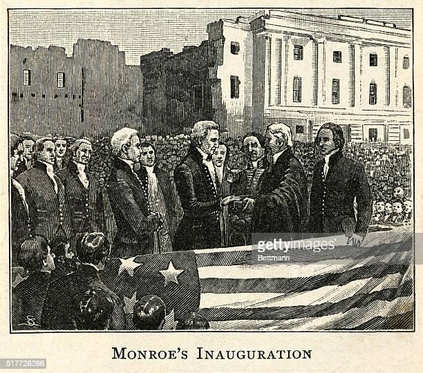 James Monroe's Inauguration as US fifth President 181725 Engraving BPA2# 3836