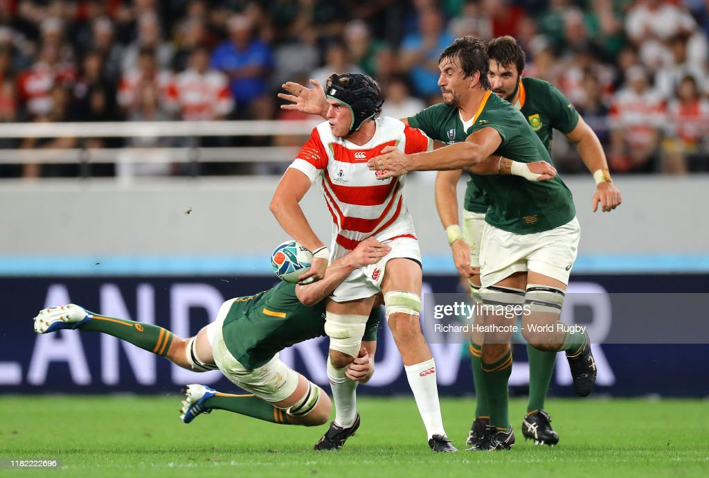 Japan v South Africa - Rugby World Cup 2019: Quarter Final : News Photo