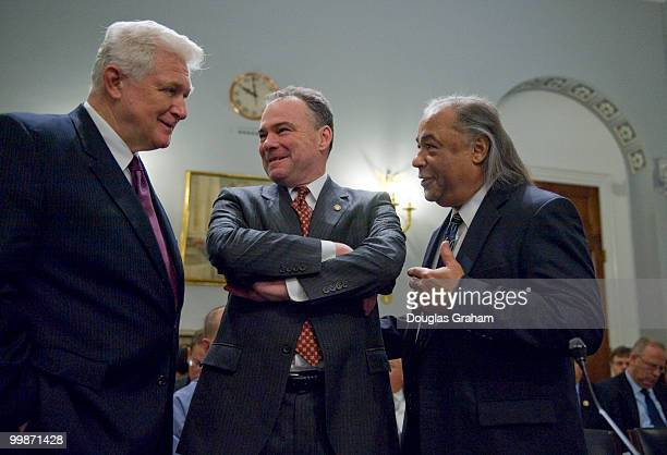 James Moran DVa Gov Timothy Kaine DVa and Stephen Adkins chief of the Chickahominy Tribe representing the Virginia Indian Tribal Alliance for Life...