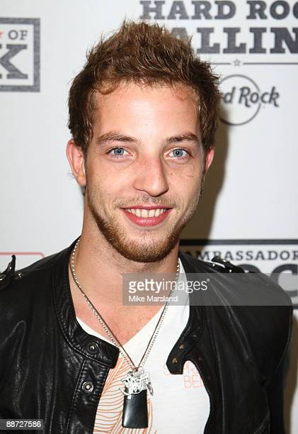 James Morrison appears backstage on day three of Hard Rock Calling at Hyde Park on June 28 2009 in London England