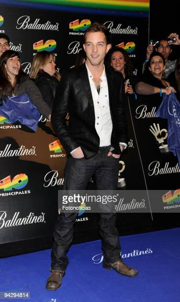 James Morrison arrives at the ''40 Principales'' Awards at the Palacio de Deportes on December 11, 2009 in Madrid, Spain.