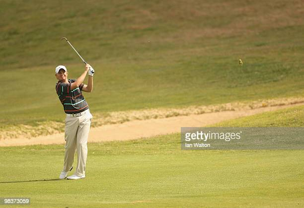 James Morrison of England in action during the 3rd round of the Madeira Islands Open at the Porto Santo golf club on April 10 2010 in Porto Santo...