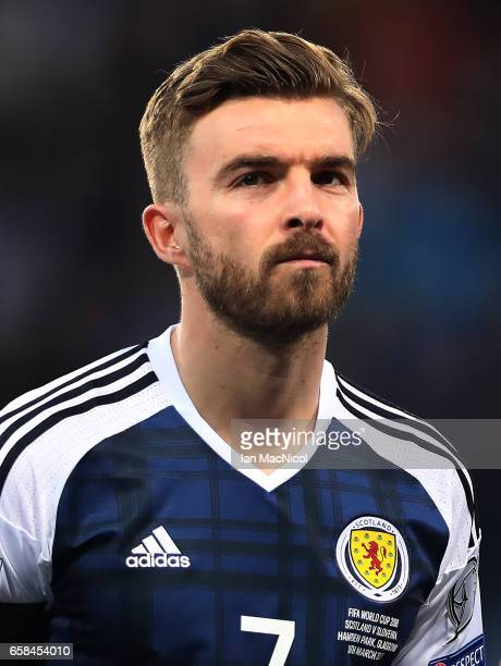 James Morrison of Scotland is seen during the FIFA 2018 World Cup Qualifier between Scotland and Slovenia at Hampden Park on March 26 2017 in Glasgow...