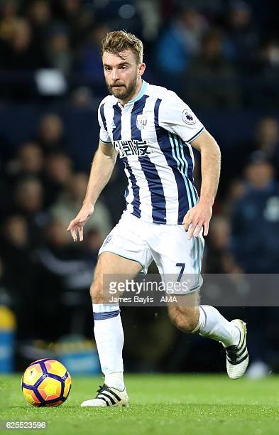 James Morrison of West Bromwich Albion during the Premier League match between West Bromwich Albion and Burnley at The Hawthorns on November 21 2016...