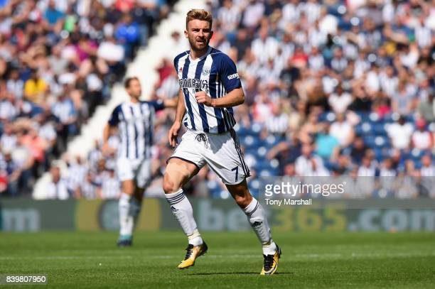 James Morrison of West Bromwich Albion in action during the Premier League match between West Bromwich Albion and Stoke City at The Hawthorns on...