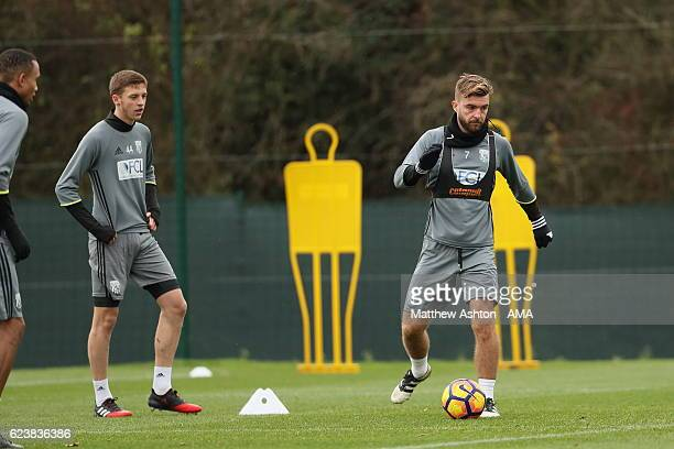 James Morrison of West Bromwich Albion of West Bromwich Albion during a training session at West Bromwich Albion Training Ground on November 17 2016...