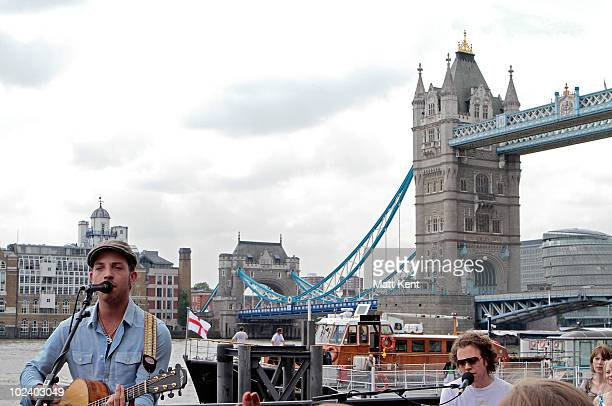 James Morrison performs 'Man In The Mirror' as part of a CBS tribute to Michael Jackson on the anniversary of his death on June 25 2010 in London...
