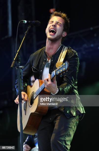 James Morrison performs on day three of Hard Rock Calling at Hyde Park on June 28 2009 in London England