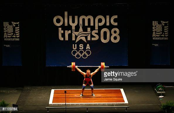 James Mosser makes a successful lift during the snatch competition
