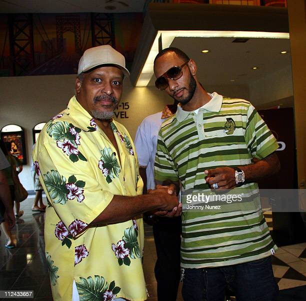James Mtume and Swizz Beatz during Volkswagon and OutKast Host a Screening for the Movie and Soundtrack 'Idlewild' at Loews Kips Bay 15 in New York...