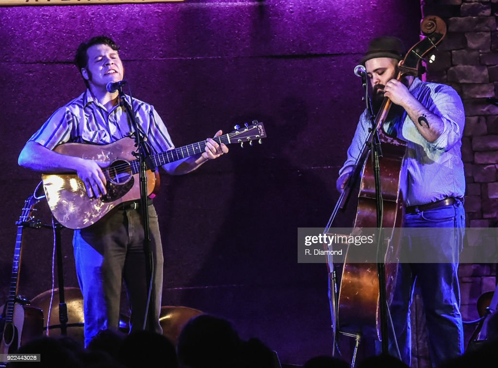 James Mullis and Adrian Marmolejo of Early James & The Latest perform at City Winery on February 20, 2018 in Atlanta, Georgia.