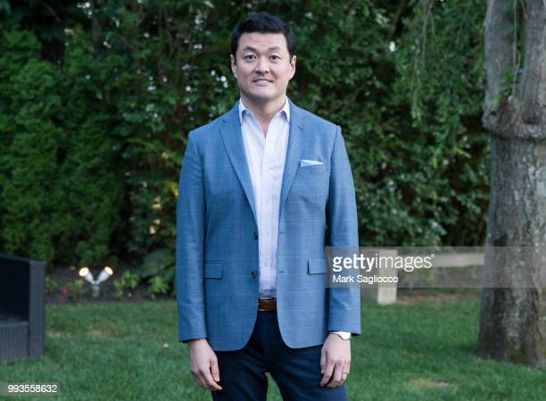 James Mun attends the Hamptons Magazine Cover Star Rose Byrne Celebration Presented By Lalique Along With Maddox Gallery at Southampton Social Club...