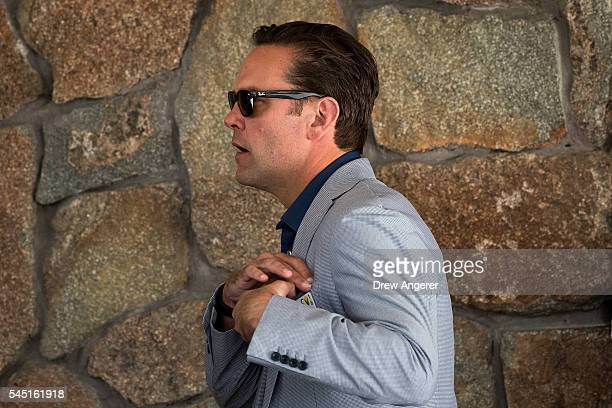 James Murdoch, chief executive officer of 21st Century Fox, attends the annual Allen & Company Sun Valley Conference, July 5, 2016 in Sun Valley,...