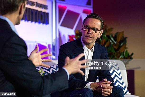 James Murdoch, chief executive officer of Twenty-First Century Fox Inc., listens during the IGNITION: Future Of Digital Conference in New York, U.S.,...