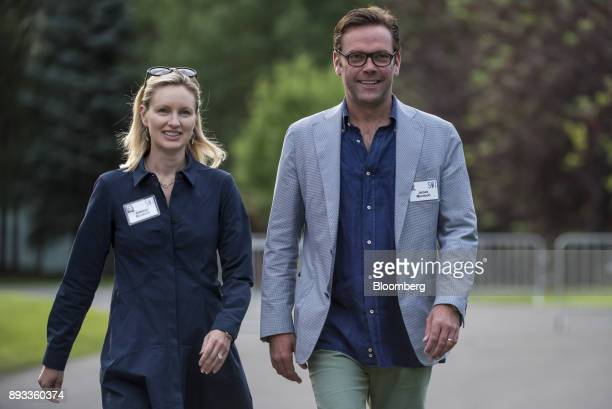 James Murdoch chief executive officer of TwentyFirst Century Fox Inc right arrives for a morning session during the Allen Co Media and Technology...